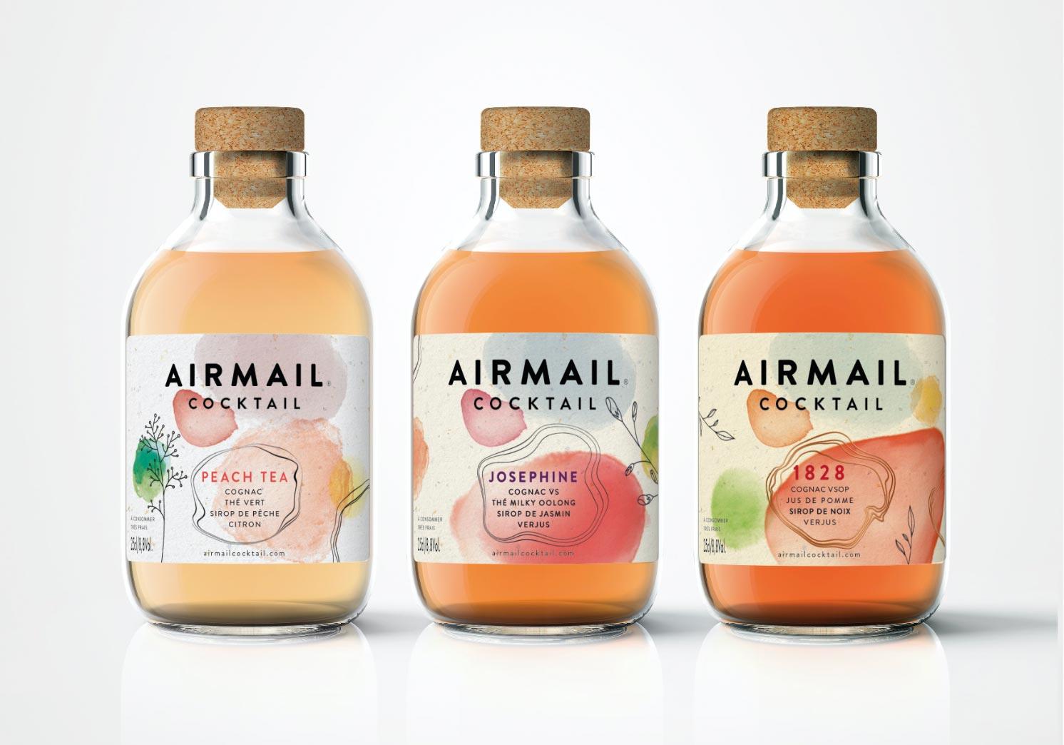 sugar lemon cocktail bouteille airmail cocktail